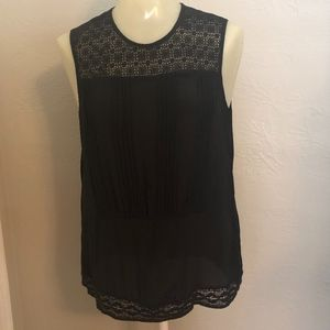 Anthro Girls from Savoy Silk Lace Sleeveless top